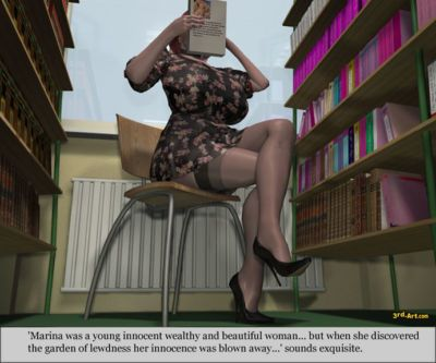 3Darlings Model Nadia at the Library - part 2