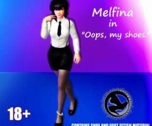 Melfina in Oops- my shoes. by Jormun
