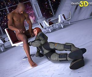 Mercenary tranny from future fucks her hunk captor - part 7