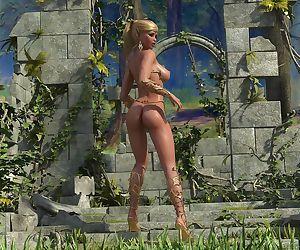 Dozen of 3d toon goblins fucking a lucky blonde teen elf -..