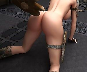 Horny slut having fun with her robot - part 9