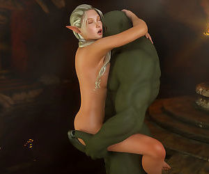 Elf princess loves orc dick