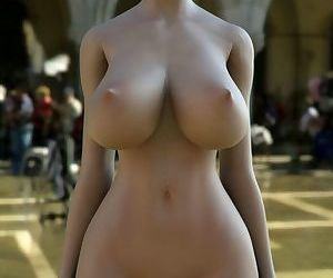 Nice busty 3d woman