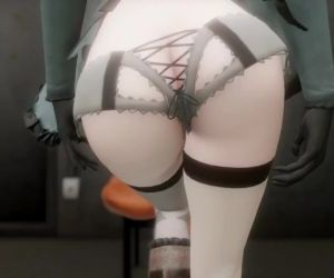 3D MMD Nier Automata 2B Gets Fucked in Cakeface