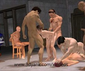 3d Anime Garage Interracial Gangbang from 3D yank - 6 min HD