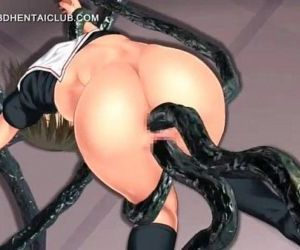 3d anime girl gets double fucked by tentacles - 5 min