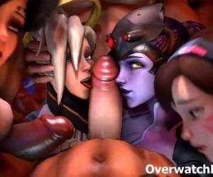 Overwatch XXX Group Sex