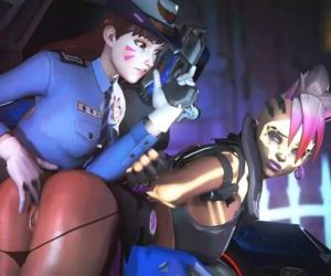 Officer D.VA X Sombra Overwatch