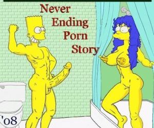 Comics Never Ending Porn Story, family  simpsons