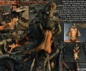 Comics 3DFiends- Zombie Chronicles 1, blowjob  forced