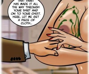 Comics Velamma 62- A Piece of Art - part 3, threesome  lesbian