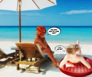 Beach Cum Guzzlers- InterracialSex3D