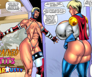 Comics Starbusty- Drained Tits, anal , blowjob  interracical
