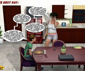 Comics Incest3D- Mom and Son Pool Party 3, milf  big-boobs