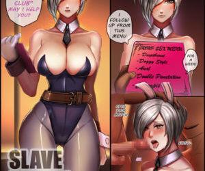 Comics Badcompzero- Slave Bunny Riven, blowjob  full color