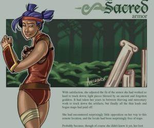 Comics The Sacred Armor transformation