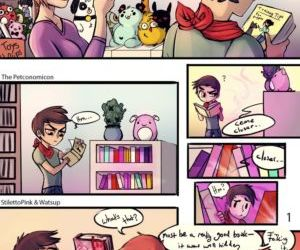 Comics The Petconomicon, gender bending  transformation