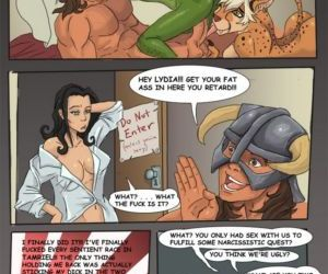 Comics The Dragonborn Cometh, threesome  orgy