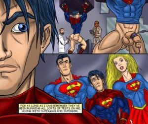 Comics Superboy, threesome  bisexual