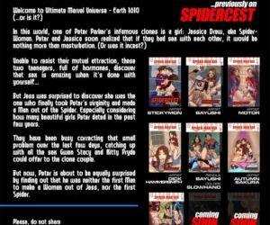 Comics Spidercest 7 superheroes