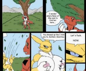 Comics Pent Up - A Digimon Smut Comic, furry  digimon