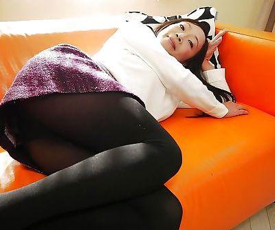 Aged Asian woman Takako Miyai..