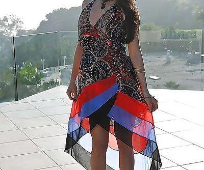 Asian Milf babe Kalina Ryu posing..