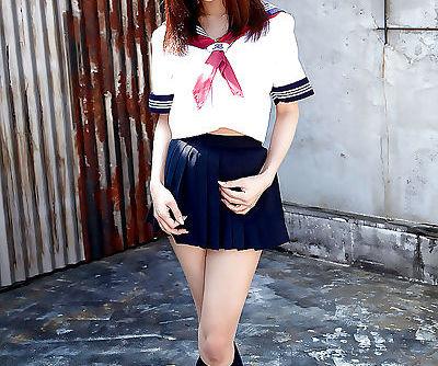 Redhead Asian babe Ria Sakuragi..