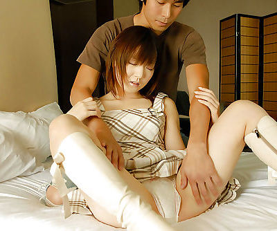 Salacious asian cutie gives head..