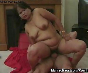 Licking balls, sitting on cock