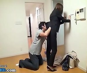 Japanese agent estate fucked at work 19 min