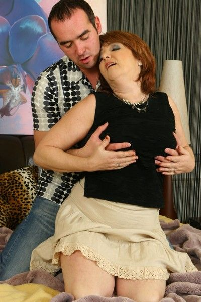 Hot mature lady in action