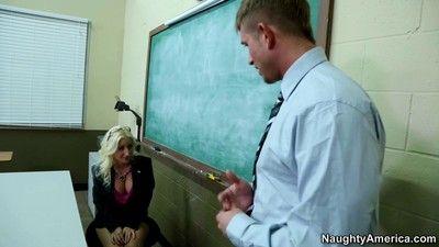 Busty sex teacher sammie spades banged in class