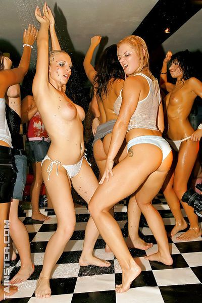 Luscious MILFs enjoy wild sex orgy at the drunk sex party - part 2