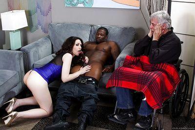 Hot MILF facesitting & sucking bbc in ass licking interracial groupsex