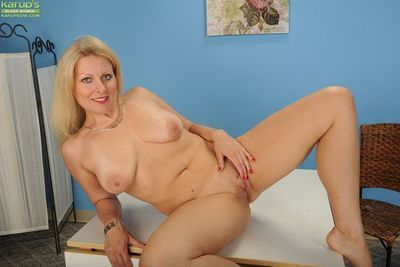 Aged blonde Zoey Tyler letting pink undies slip over ass and fall on floor - part 2
