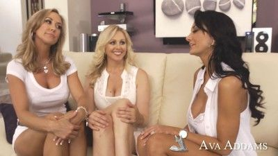 Julia ann with brandi love and ava addams