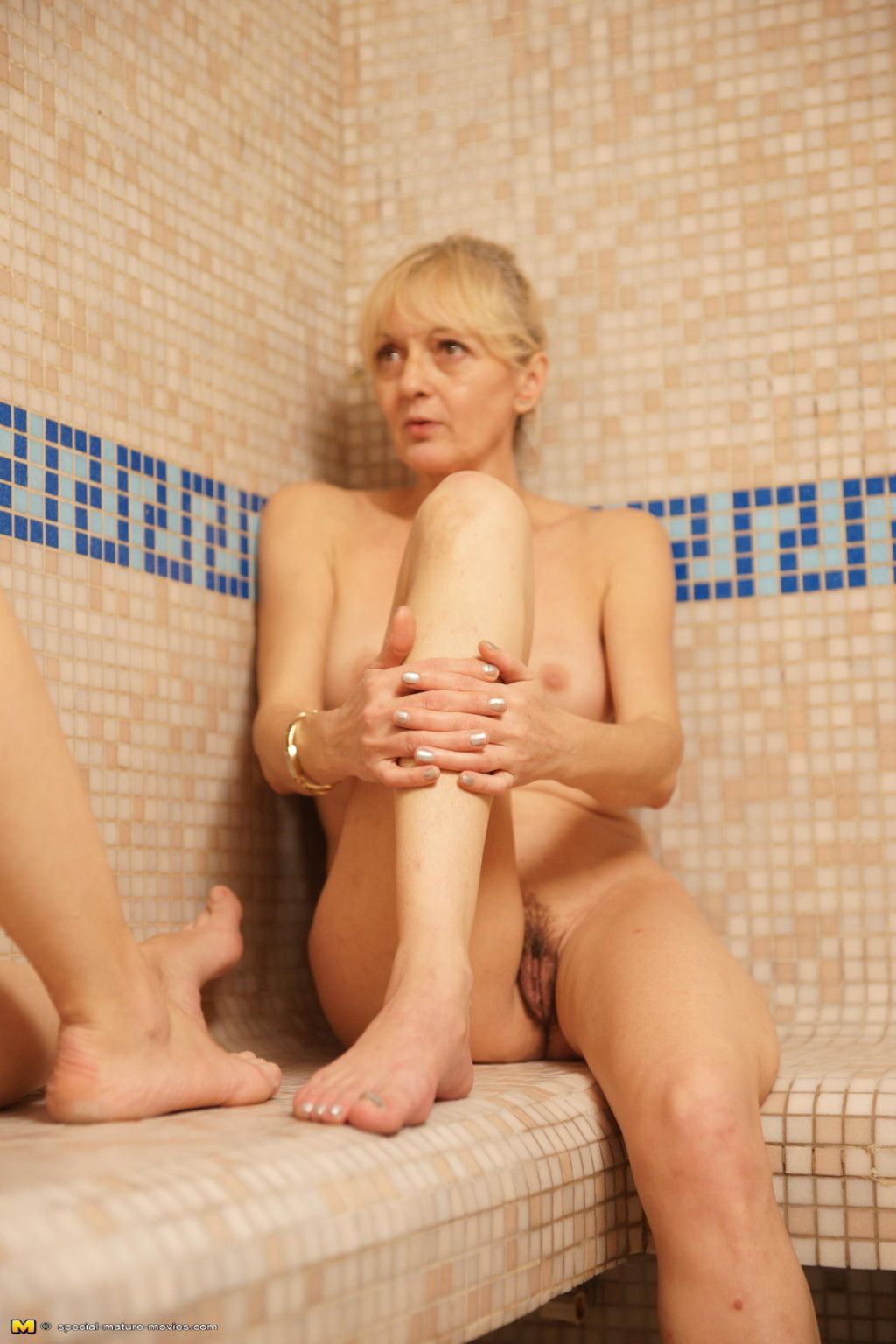 Take a look at an all female sauna