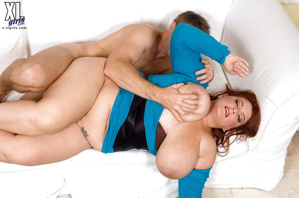 Redhead fatty Jade Parker unveiling massive boobs before hardcore fuck - part 2
