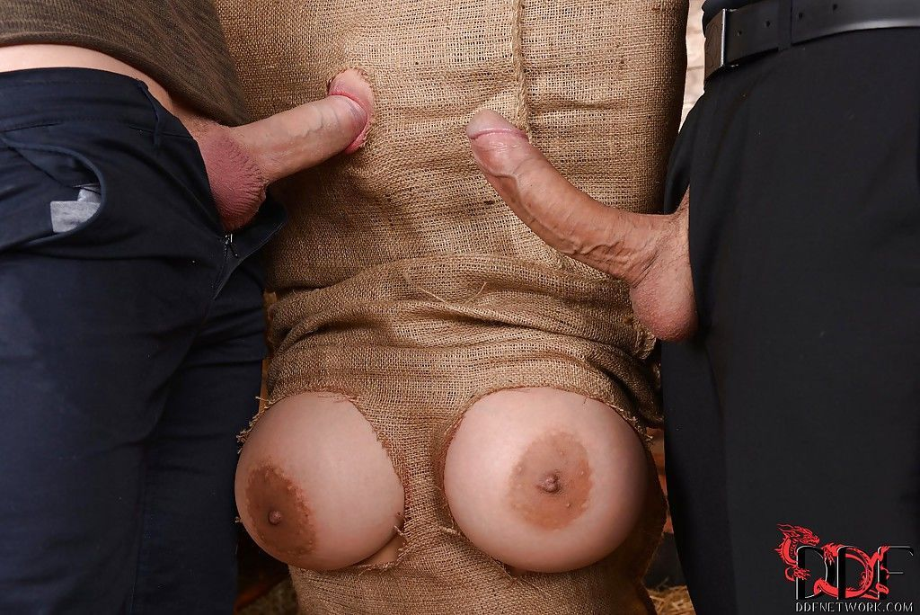 Asian BDSM lady Tigerr Benson is put inside a sack and deepthroated - part 2
