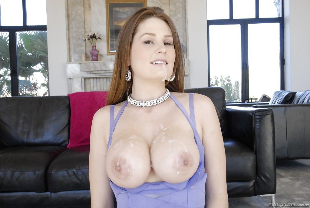 Allison Moore receives a large cumshot after hardcore anal pounding - part 2