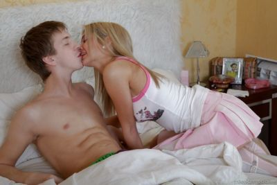 Young blond girlfriend Catlin having asshole licked and fucked by boyfriend