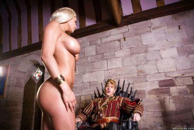 Busty blonde pornstar Peta Jensen engaging having sex in cosplay uniform