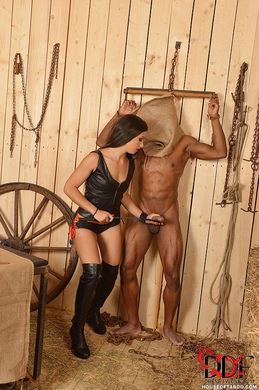 Hardcore interracial BDSM sex on farm with Anita Berlusconi & Mira Cuckold