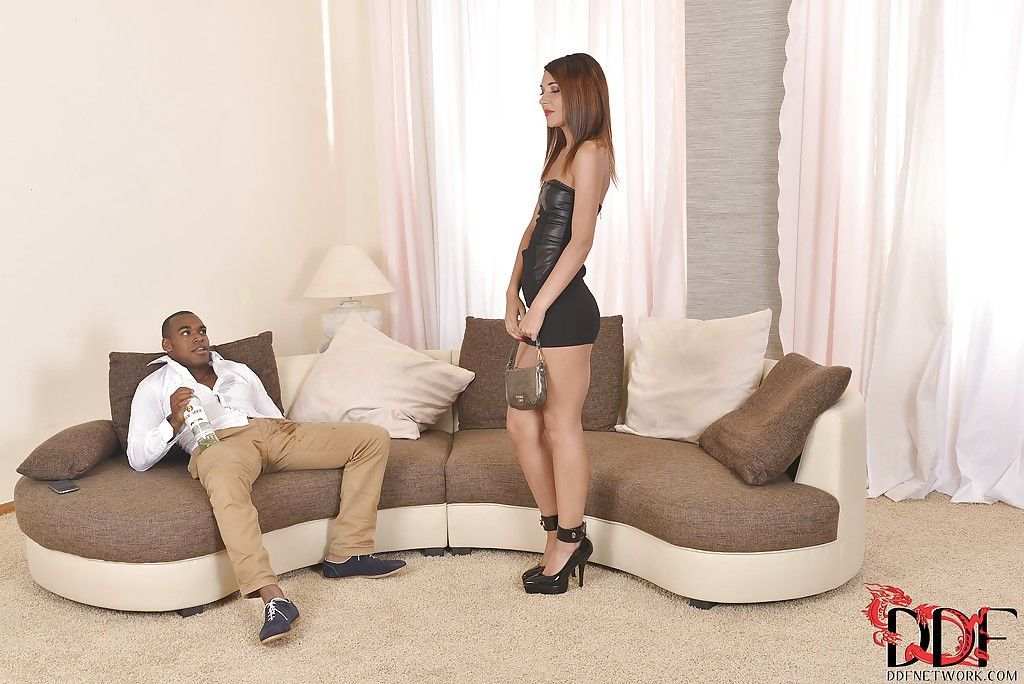 Interracial blowjob from Alexis Brill looks thoroughly satisfying