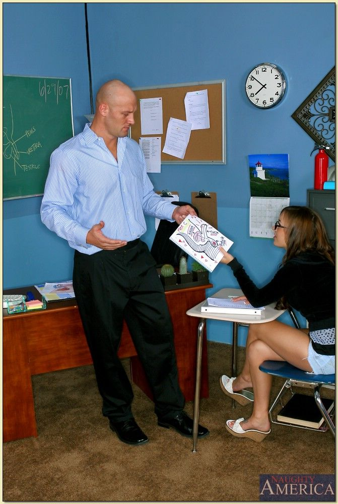 Naughty coed with big tits Jaclyn Case impaled on hard meat in the class