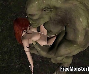 3D redhead elf babe getting fucked hard by a..