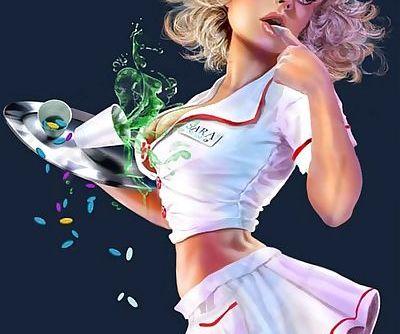 Clumsy nurse.