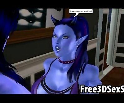 Horny 3D cartoon avatar aliens..