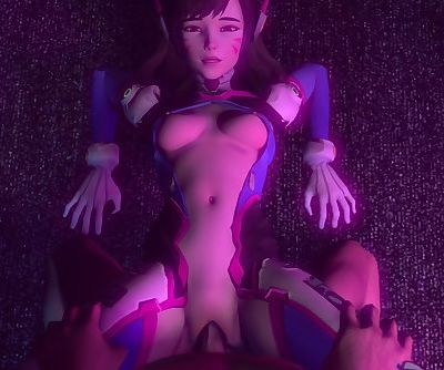 OverWatch D.Va Gets pounded hard..